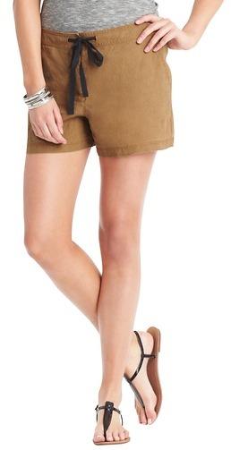 "LOFT Drawstring Linen Shorts with 4"" Inseam"