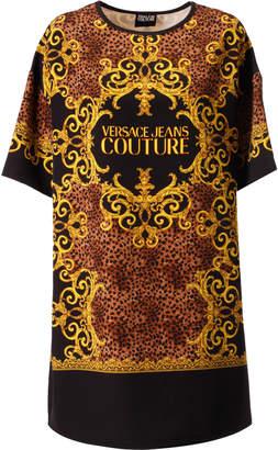 Versace Leopard & Baroque Print Dress