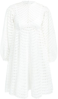 Zimmermann Poppy Eyelet Short Dress