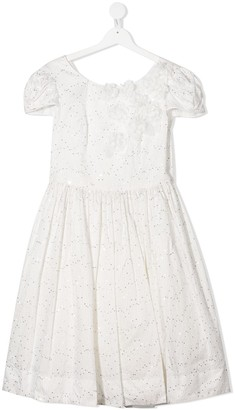 MonnaLisa V-neck bow detail dress