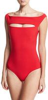 La Petite Robe di Chiara Boni Europa Off-the-Shoulder One-Piece Swimsuit, Black