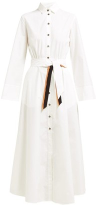 Marios Schwab On The Island By Ikaria Flared Cotton Shirtdress - Womens - White