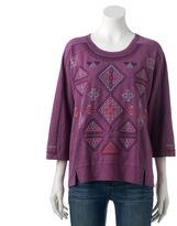 Women's SONOMA Goods for LifeTM Embroidered French Terry Sweatshirt