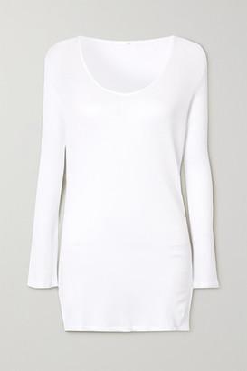 Skin Romina Ribbed Organic Pima Cotton-jersey Top - White