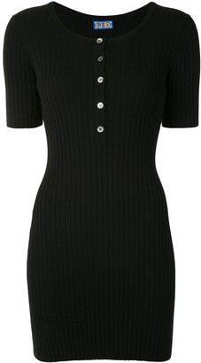 Lhd Ribbed-Knit Mini Dress