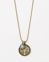 Blue Bird in Tree Pendant with Blue Bird Mini Charm Necklace