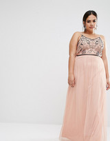 Boohoo Plus Sequin Embroidered Maxi Dress