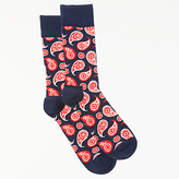 Happy Socks Paisley Socks, One Size, Blue/red