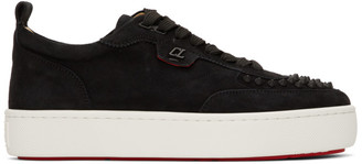 Christian Louboutin Black Suede Happyrui Sneakers