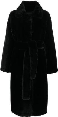 Stand Studio Faux Fur Wrap Coat