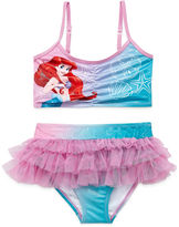 Disney Girls Princess Solid Tankini Set - Toddler