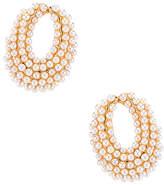 Ettika Pearl Hoop Earring