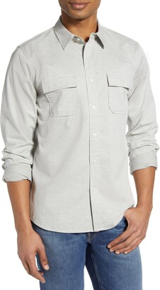 Frame Bedford Classic Fit Solid Button-Up Shirt