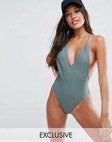 South Beach Khaki Strappy Swimsuit