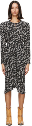 Isabel Marant Black and White Ibelky Dress