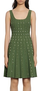 Sandro Avah Beaded Knit Dress