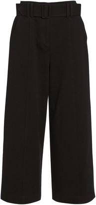 Intermix Franny Wide-Leg Cropped Pants