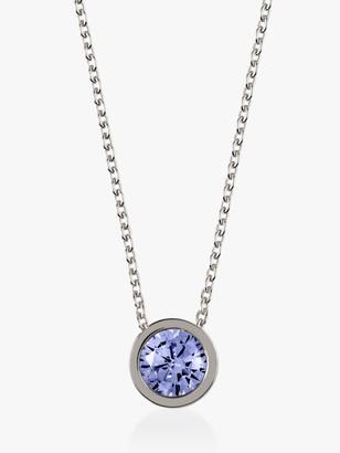 Radley Fountain Road Sterling Silver Swarovski Crsystal Necklace, Silver/Blue