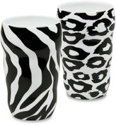 Konitz Double-Walled Zebra and Leopard Grip Mugs (Set of 2)