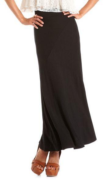 Charlotte Russe Asymmetrical Seam Maxi Skirt