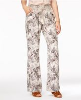 Rewash Juniors' Printed Wide-Leg Soft Pants