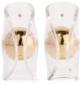 J.W.Anderson Globe Gold-Plated Acrylic Earrings