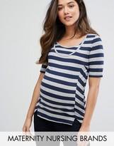 Mama Licious Mama.licious Mamalicious Stripe Nursing T-Shirt