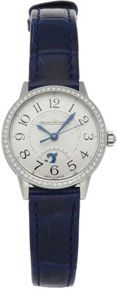 Jaeger-LeCoultre Jaeger LeCoultre Silver Diamonds Stainless Steel Rendez-Vous Night & Day Q3468430 Women's Wristwatch 29 MM