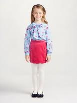 Oscar de la Renta Velvet Scallop Skirt