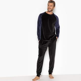 La Redoute Collections Velour Long-Sleeved Pyjamas