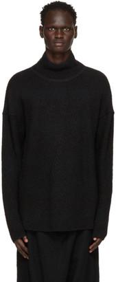 Julius Black Knit Turtleneck Sweater