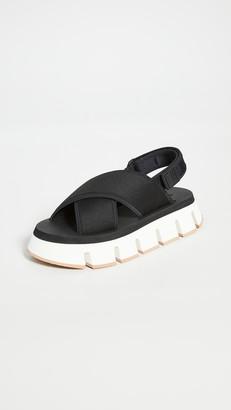 Marni Platform Track Sole Crisscross Sandals