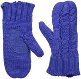 Isotoner Women's Women's Chunky Cable Knit Sherpasoft Mittens