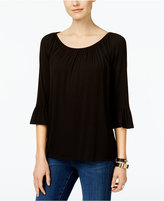 INC International Concepts Petite Bell-Sleeve Peasant Top, Only at Macy's