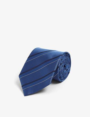 Lanvin Striped silk tie
