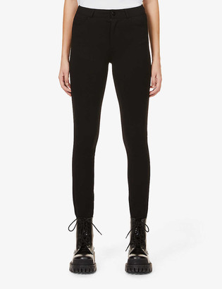 Paige Hoxton Skinny high-rise stretch-woven trousers