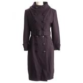 Burberry Purple Wool Coat
