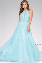 Jovani Embellished A-Line Tulle Prom Dress 47453