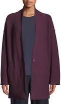 Eileen Fisher Plus Size Lightweight Boiled Wool Kimono Jacket