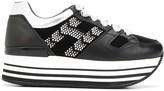 Hogan H283 logo platform sneakers