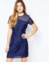 Sugarhill Boutique Dress In Stripe Organza