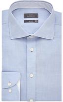 John Lewis Luxury Cotton Cashmere Tailored Shirt, Blue