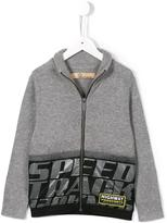 John Galliano speed track print cardigan