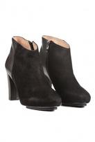 Get High on Heels Day and Night Booties Black Nappa/Suede