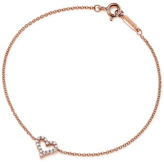 Tiffany & Co. Heart bracelet in 18k rose gold with diamonds, small