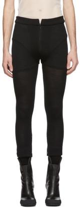 Random Identities Black Zip Trousers