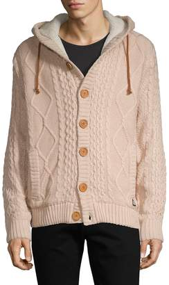American Stitch Faux Fur-Lined Hooded Cardigan