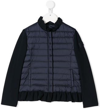 Il Gufo Long Contrast Sleeve Puffer Jacket