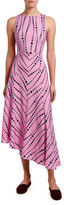 Marni Double J Pina Sleeveless Pearl Print Asymmetric Dress