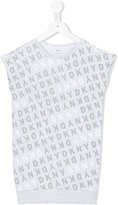 DKNY sleeveless logo print T-shirt